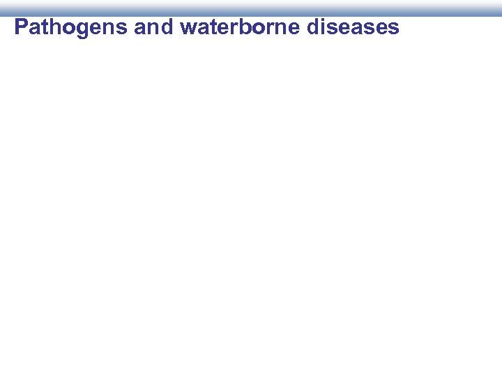 Pathogens and waterborne diseases