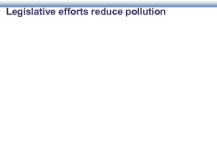 Legislative efforts reduce pollution