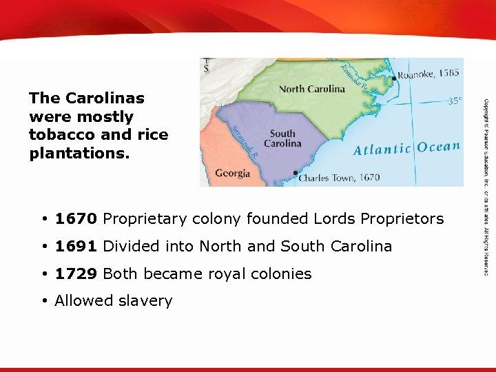 TEKS 8 C: Calculate percent composition and empirical and molecular formulas. The Carolinas were