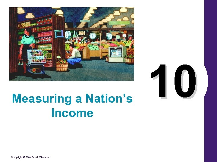 Measuring a Nation's Income Copyright © 2004 South-Western 10