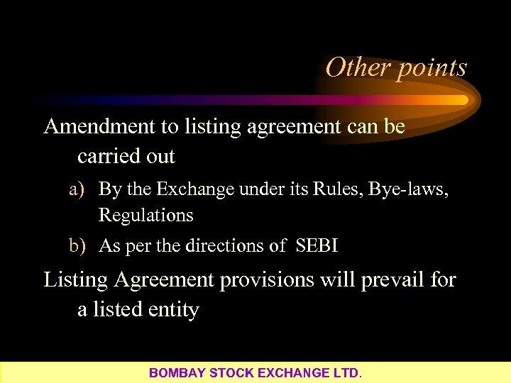 Presented By Gopalkrishnan Iyer Bombay Stock Exchange Ltd