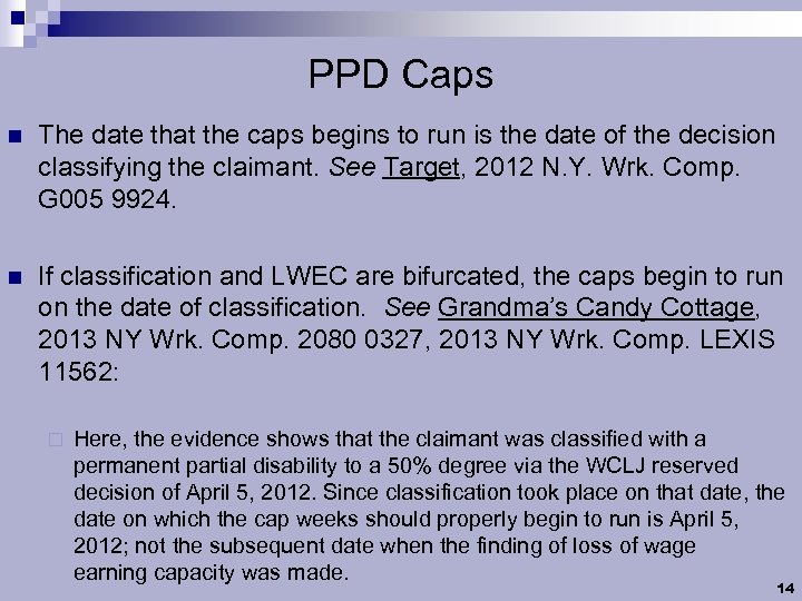 PPD Caps n The date that the caps begins to run is the date