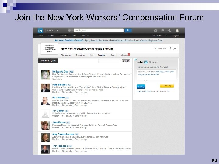 Join the New York Workers' Compensation Forum 69