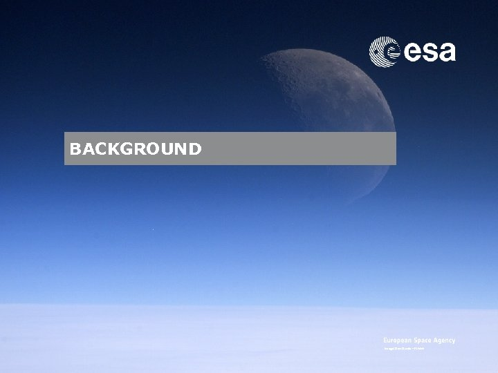 BACKGROUND Image: Dan Durda – FIAAA Emmet Fletcher | SSA Precursor Programme | SSA
