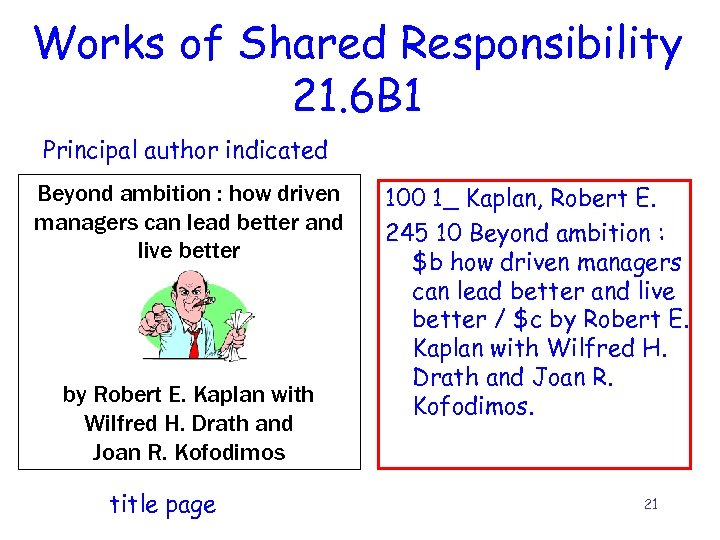 Works of Shared Responsibility 21. 6 B 1 Principal author indicated Beyond ambition :
