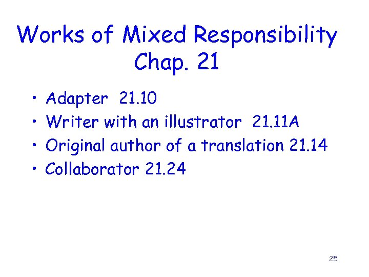 Works of Mixed Responsibility Chap. 21 • • Adapter 21. 10 Writer with an