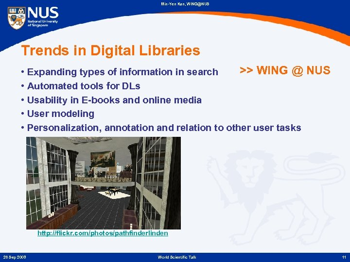 Min-Yen Kan, WING@NUS Trends in Digital Libraries >> WING @ NUS • Expanding types