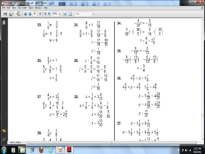3 -8 Solving Equations Containing Fractions