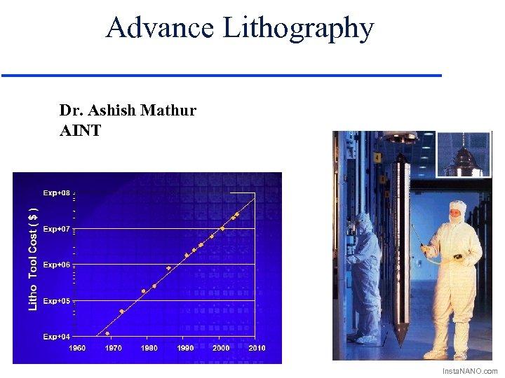 Advance Lithography Dr. Ashish Mathur AINT Insta. NANO. com