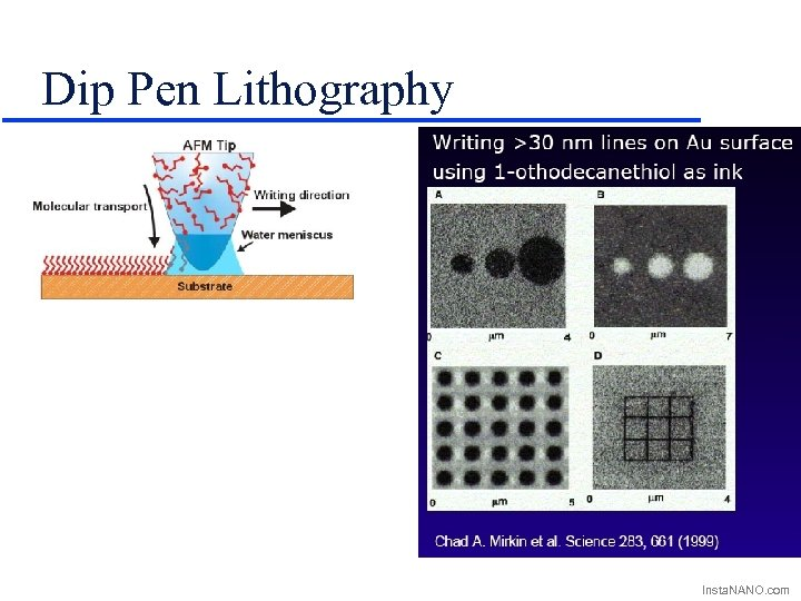 Dip Pen Lithography Insta. NANO. com