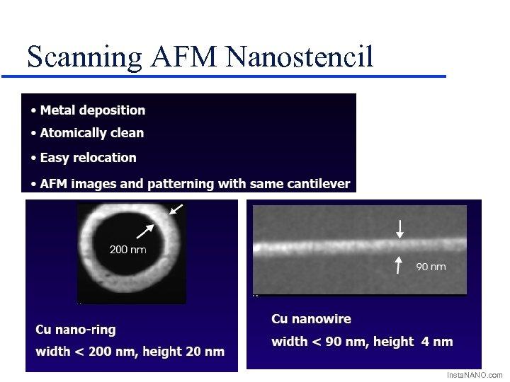 Scanning AFM Nanostencil Insta. NANO. com
