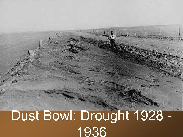 Dust Bowl: Drought 1928 1936