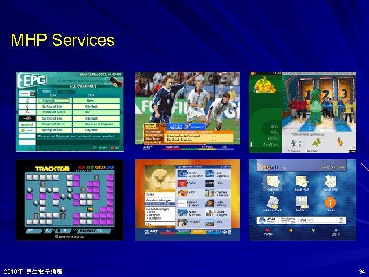 MHP Services 2010年 民生電子論壇 2010年 34