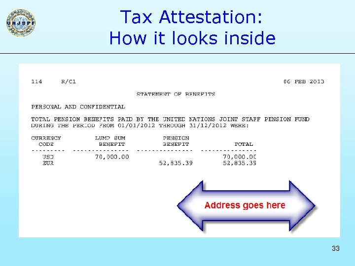 Tax Attestation: How it looks inside 33