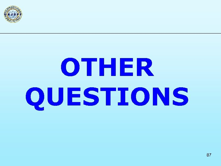 OTHER QUESTIONS 87