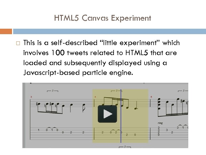 """HTML 5 Canvas Experiment This is a self-described """"little experiment"""" which involves 100 tweets"""
