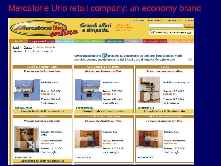 Mercatone Uno retail company: an economy brand
