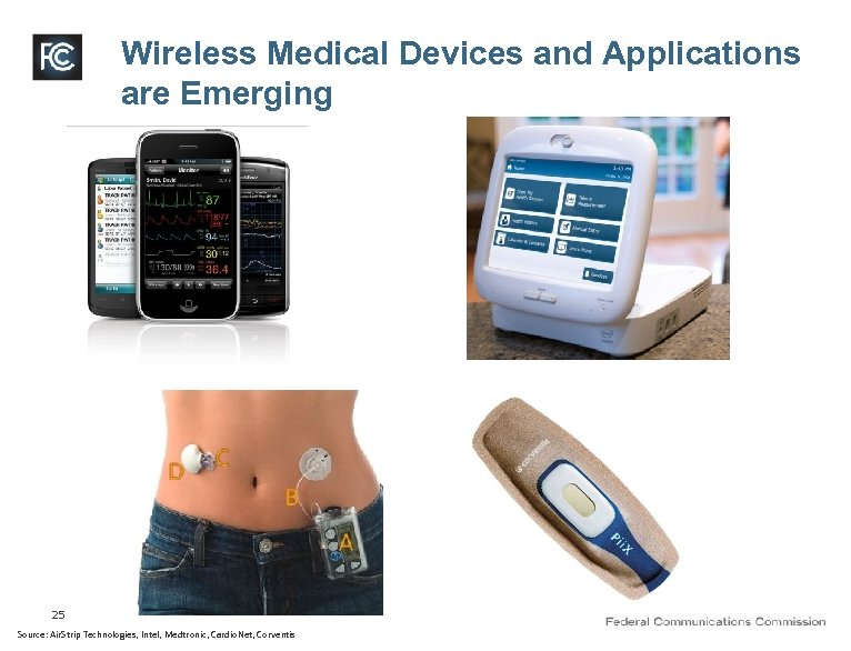 Wireless Medical Devices and Applications are Emerging 25 Source: Air. Strip Technologies, Intel, Medtronic,