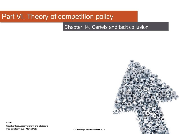 Part VI. Theory of competition policy Chapter 14. Cartels and tacit collusion Slides Industrial