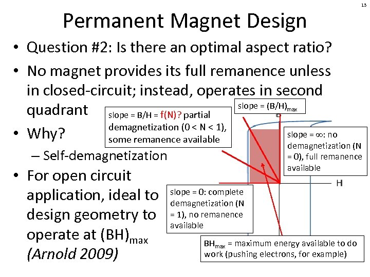Permanent Magnet Design • Question #2: Is there an optimal aspect ratio? • No