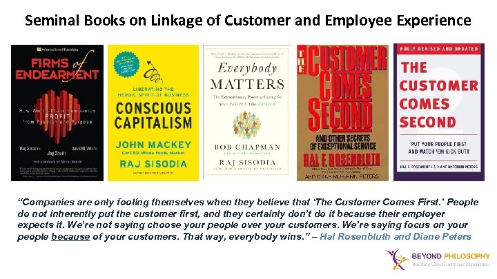 """Seminal Books on Linkage of Customer and Employee Experience """"Companies are only fooling themselves"""