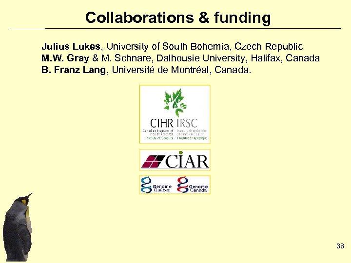 Collaborations & funding Julius Lukes, University of South Bohemia, Czech Republic M. W. Gray