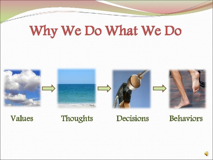 Why We Do What We Do Values Thoughts Decisions Behaviors