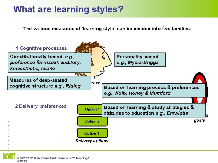 What are learning styles? The various measures of 'learning style' can be divided into