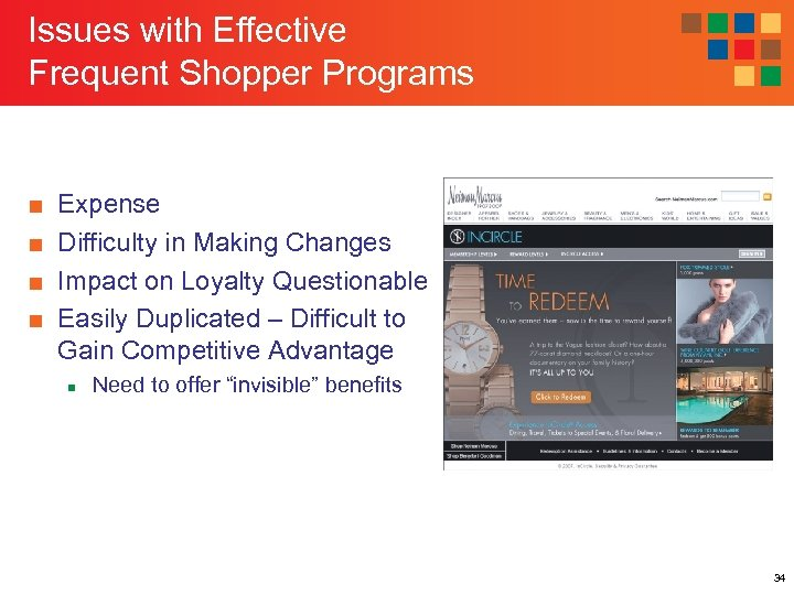 Issues with Effective Frequent Shopper Programs ■ ■ Expense Difficulty in Making Changes Impact