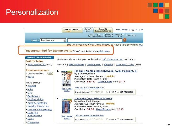 Personalization 35