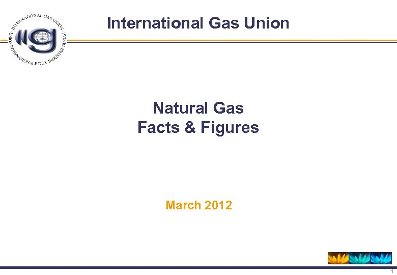 International Gas Union Natural Gas Facts & Figures March 2012 1