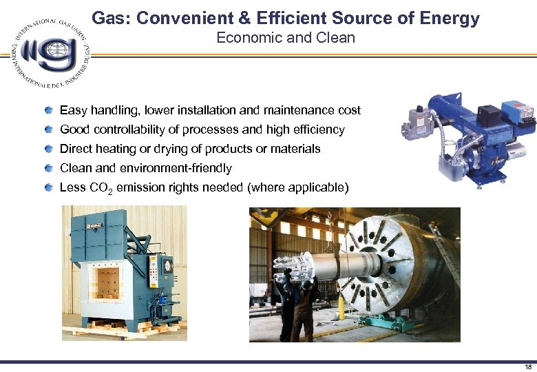 Gas: Convenient & Efficient Source of Energy Economic and Clean Easy handling, lower installation