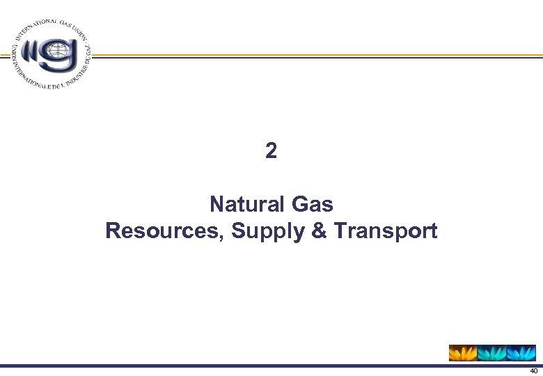 2 Natural Gas Resources, Supply & Transport 40