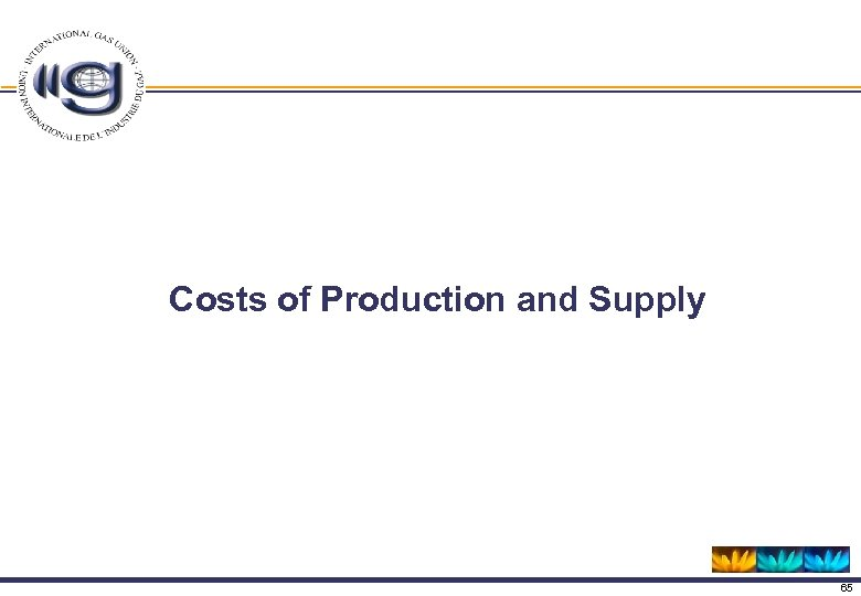 Costs of Production and Supply 65