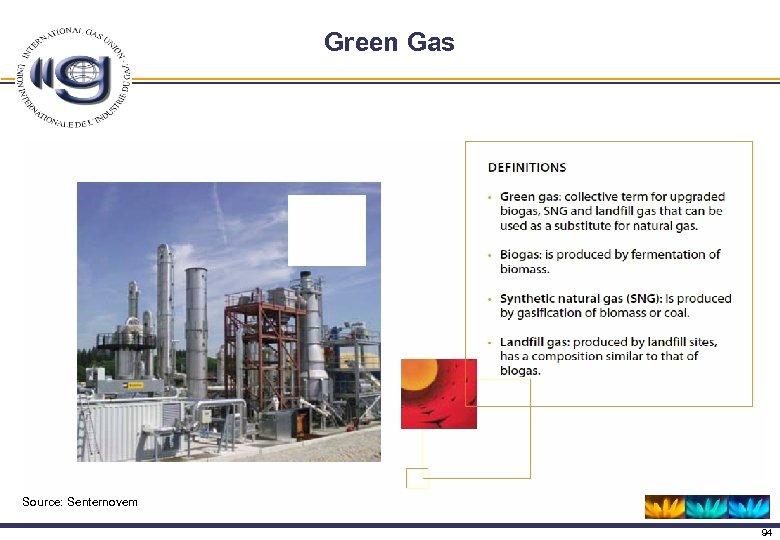 Green Gas Source: Senternovem 94