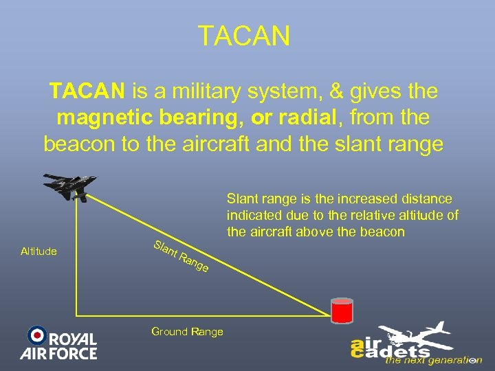 TACAN is a military system, & gives the magnetic bearing, or radial, from the