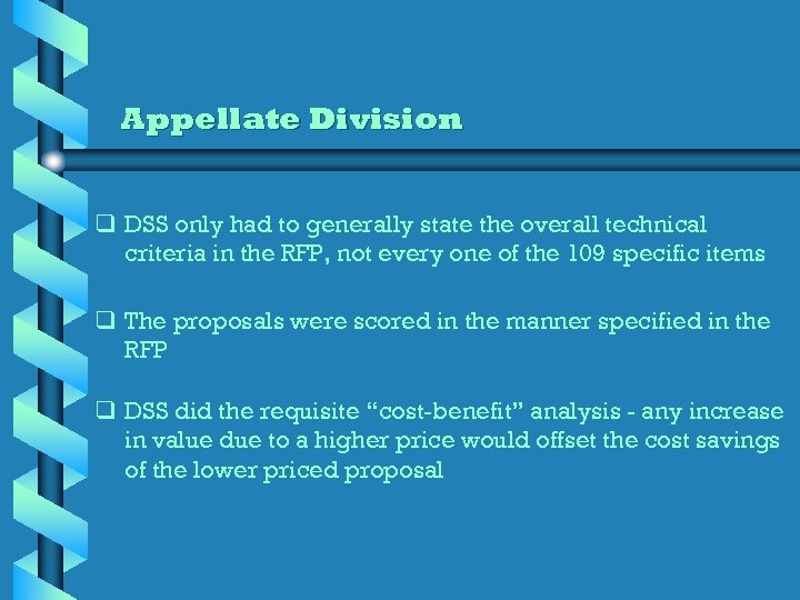 Appellate Division q DSS only had to generally state the overall technical criteria in