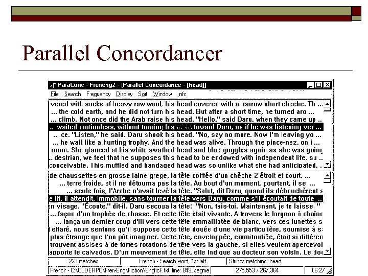 Parallel Concordancer