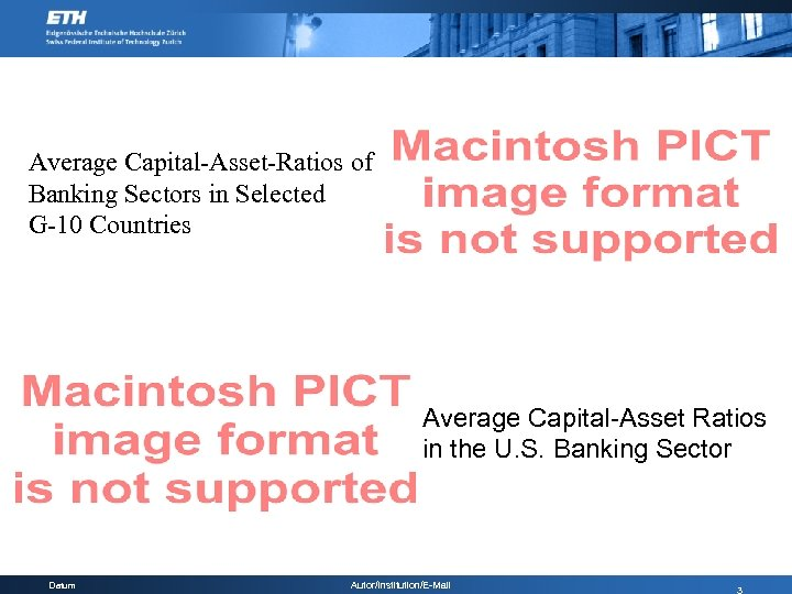 Average Capital-Asset-Ratios of Banking Sectors in Selected G-10 Countries Average Capital-Asset Ratios in the