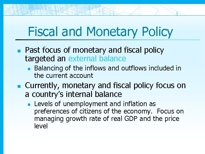 Macroeconomic Policy and Floating Exchange Rates Introduction