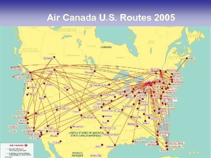 Air Canada U. S. Routes 2005 14