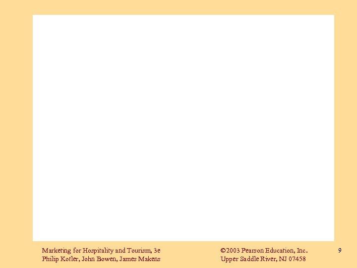 Marketing for Hospitality and Tourism, 3 e Philip Kotler, John Bowen, James Makens ©