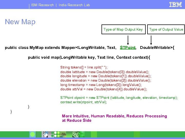 IBM Research   India Research Lab New Map Type of Map Output Key Type