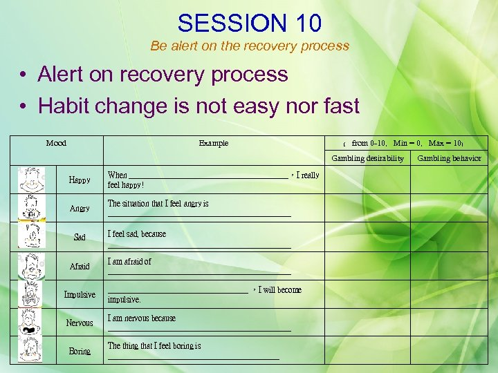 SESSION 10 Be alert on the recovery process • Alert on recovery process •