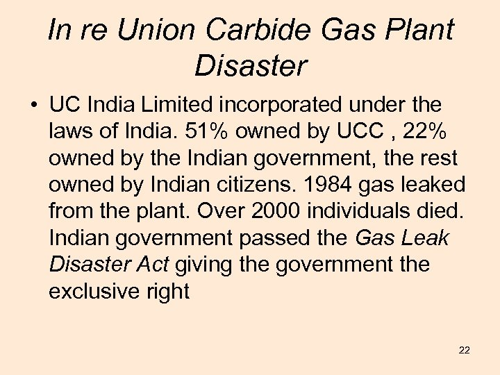 In re Union Carbide Gas Plant Disaster • UC India Limited incorporated under the