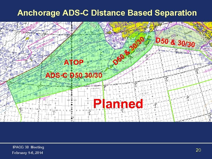 Anchorage ADS-C Distance Based Separation 30 / ATOP D 50 & 30 /30 ADS-C