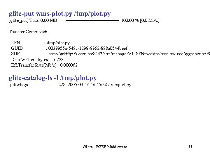 glite-put wms-plot. py /tmp/plot. py [glite_put] Total 0. 00 MB  ==========  100. 00 %