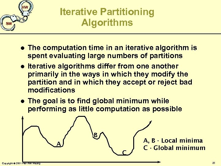 HW SW l l l Iterative Partitioning Algorithms The computation time in an iterative