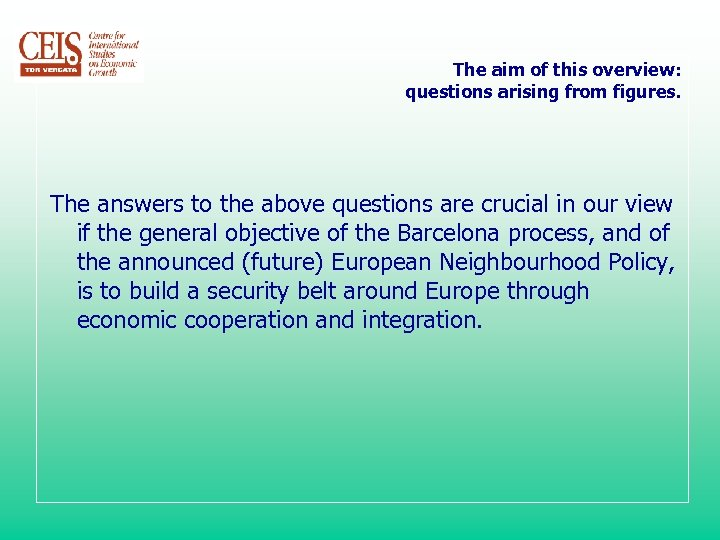 The aim of this overview: questions arising from figures. The answers to the above