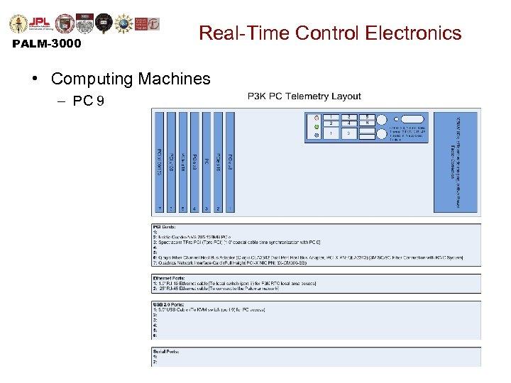 PALM-3000 Real-Time Control Electronics • Computing Machines – PC 9